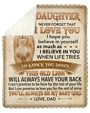 "Never Forget That I Love You-Lion Dad To Daughter Sherpa Fleece Blanket - 50"" x 60"" thumbnail"