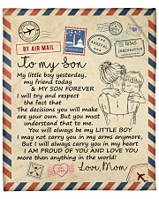 """My Girl Yesterday My Friend Today Moon Mom To Son Fleece Blanket - 50"""" x 60"""" front"""