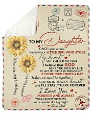 """Daughter Keep Me In Heart I'll Stay There Forever Sherpa Fleece Blanket - 50"""" x 60"""" thumbnail"""