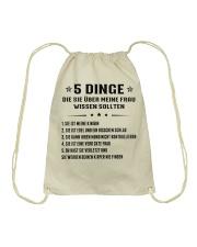 5 Dinge Die Sie Uber Meine Frau Wissen Sollten Drawstring Bag thumbnail