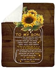 My Love For U Is Forever Sunflower Mom To Son Sherpa Fleece Blanket tile