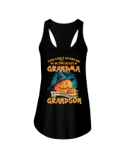 I'm The Crazy Grandma Of A Awesome Grandson Ladies Flowy Tank thumbnail