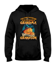 I'm The Crazy Grandma Of A Awesome Grandson Hooded Sweatshirt thumbnail
