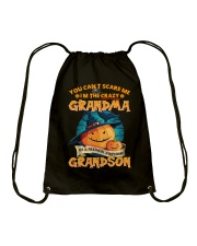 I'm The Crazy Grandma Of A Awesome Grandson Drawstring Bag thumbnail