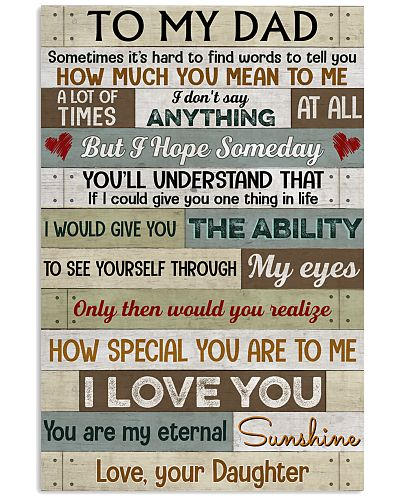 How Special You Are To Me I Love You - For Dad