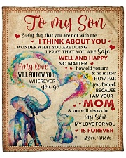 """Everyday I Think About U Elephants Mom To Son Fleece Blanket - 50"""" x 60"""" front"""