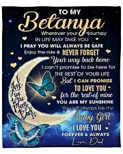 """Betanya Half Moon Promise To Love U 4The Rest Fleece Blanket - 50"""" x 60"""" front"""