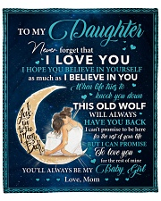 """Never Forget That I Love You-Moon Mom To Daughter Fleece Blanket - 50"""" x 60"""" front"""