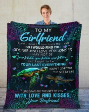 """I Wish I Could Turn Back The Clock To Girlfriend Fleece Blanket - 50"""" x 60"""" aos-coral-fleece-blanket-50x60-lifestyle-front-01"""