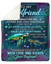 I Wish I Could Turn Back The Clock To Girlfriend Sherpa Fleece Blanket tile