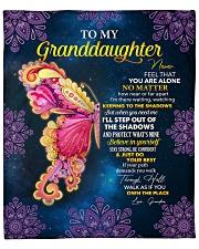 "Never Feel U Are Alone Butterfly GM-Granddaughter Fleece Blanket - 50"" x 60"" front"
