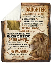 """I Close My Eyes For But A Moment Dad To Daughter Sherpa Fleece Blanket - 50"""" x 60"""" thumbnail"""
