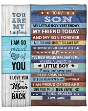 """I LoveU More Than Anything In The World Mom To Son Fleece Blanket - 50"""" x 60"""" front"""