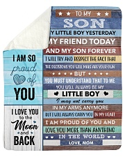 I LoveU More Than Anything In The World Mom To Son Sherpa Fleece Blanket tile