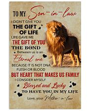 To My Son-In-Law Lucky To Have You In My Life 11x17 Poster thumbnail