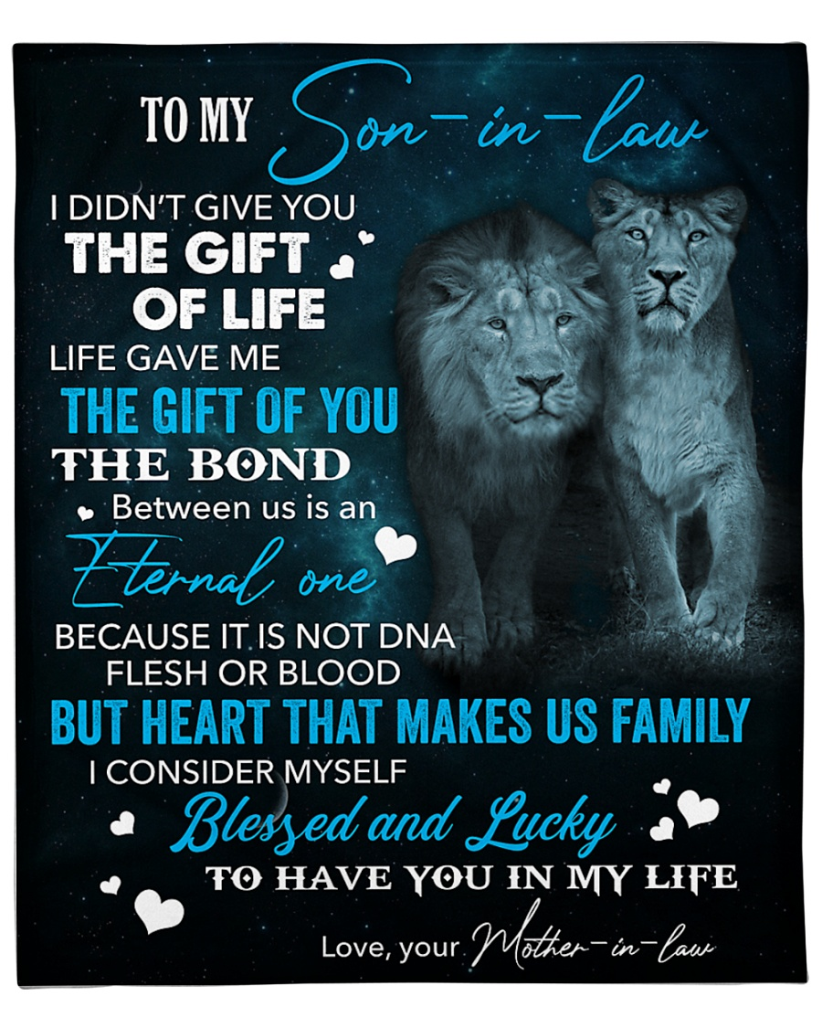 """To My Son-In-Law Lucky To Have You In My Life Fleece Blanket - 50"""" x 60"""""""