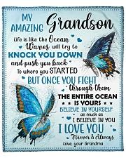 """Life Is Like The Ocean-Butterfly Grandma Grandson Fleece Blanket - 50"""" x 60"""" front"""