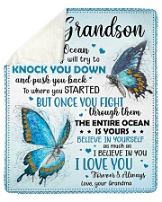 """Life Is Like The Ocean-Butterfly Grandma Grandson Sherpa Fleece Blanket - 50"""" x 60"""" thumbnail"""