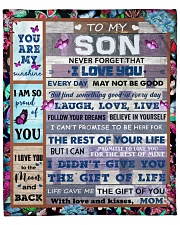 """Never Forget That I Love You Mom To Son Fleece Blanket - 50"""" x 60"""" front"""