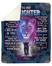 """Never Forget That I Love U Lion Mom To Daughter Sherpa Fleece Blanket - 50"""" x 60"""" thumbnail"""