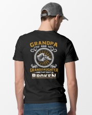 Grandpa And Granddaughter Classic T-Shirt lifestyle-mens-crewneck-back-6
