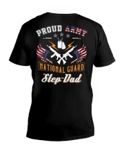 Proud Army National Guard Step-Dad V-Neck T-Shirt tile