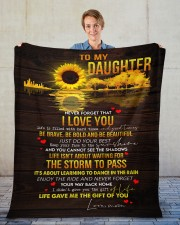 "Never Forget That I Love You Mom To Daughter Fleece Blanket - 50"" x 60"" aos-coral-fleece-blanket-50x60-lifestyle-front-01"