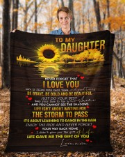 "Never Forget That I Love You Mom To Daughter Fleece Blanket - 50"" x 60"" aos-coral-fleece-blanket-50x60-lifestyle-front-01b"