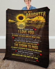 "Never Forget That I Love You Mom To Daughter Fleece Blanket - 50"" x 60"" aos-coral-fleece-blanket-50x60-lifestyle-front-02a"