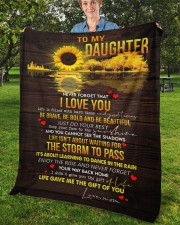 "Never Forget That I Love You Mom To Daughter Fleece Blanket - 50"" x 60"" aos-coral-fleece-blanket-50x60-lifestyle-front-02b"
