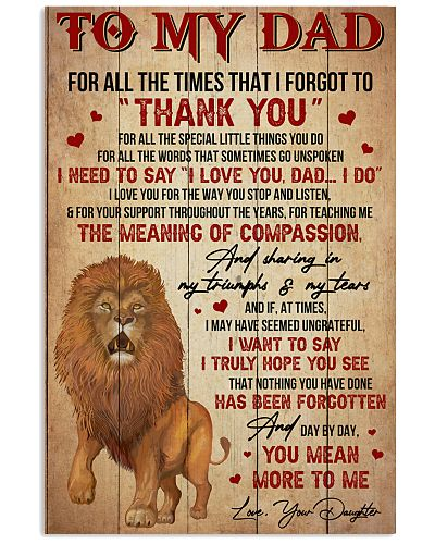 Dad Lion Tks4 All The Special Little Things You Do