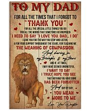 Dad Lion Tks4 All The Special Little Things You Do 11x17 Poster front