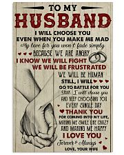 To my husband I Love you forever and always 11x17 Poster front
