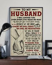 To my husband I Love you forever and always 11x17 Poster lifestyle-poster-2