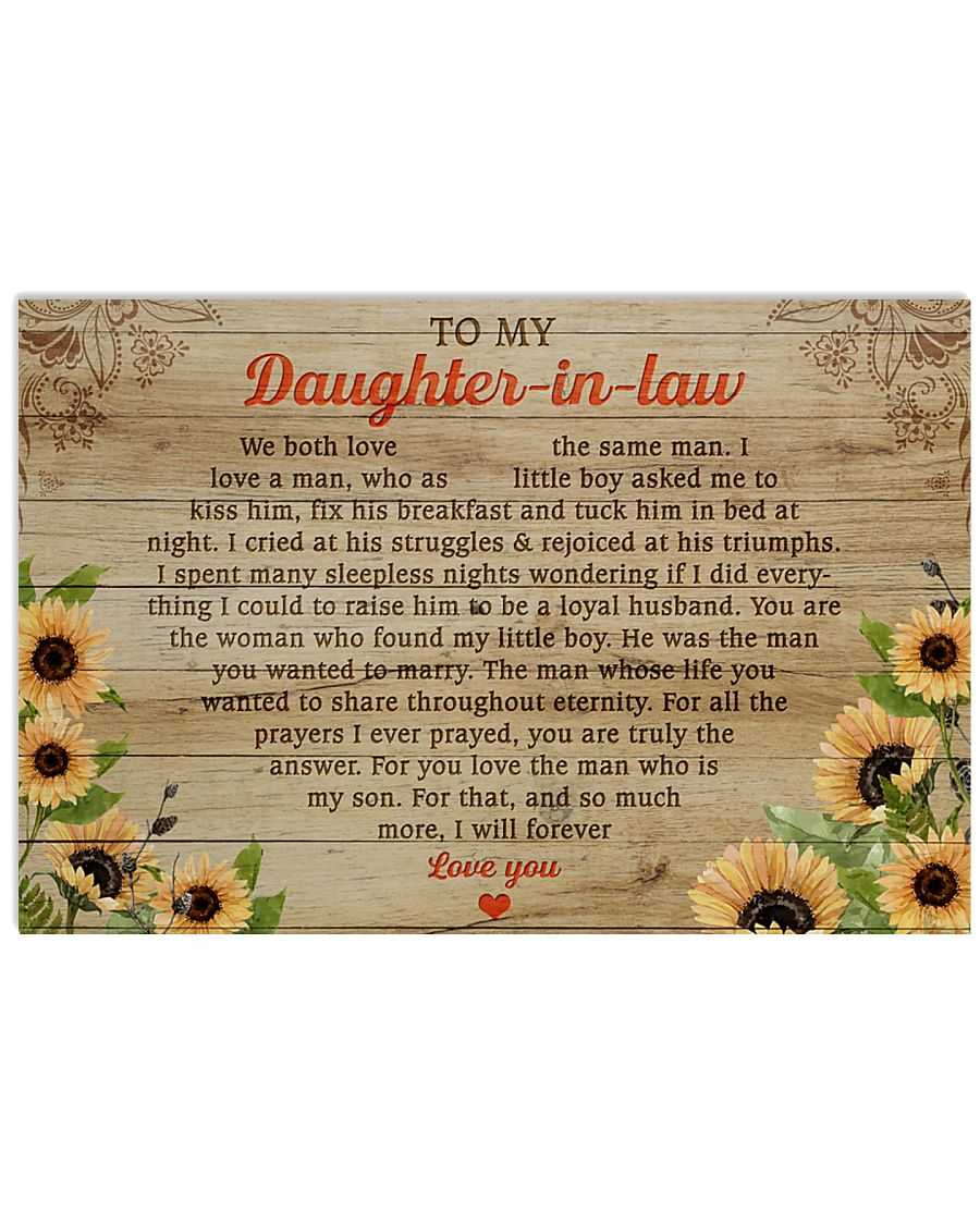 Daughter-In-Law So Much More I'll Forever Love You 17x11 Poster