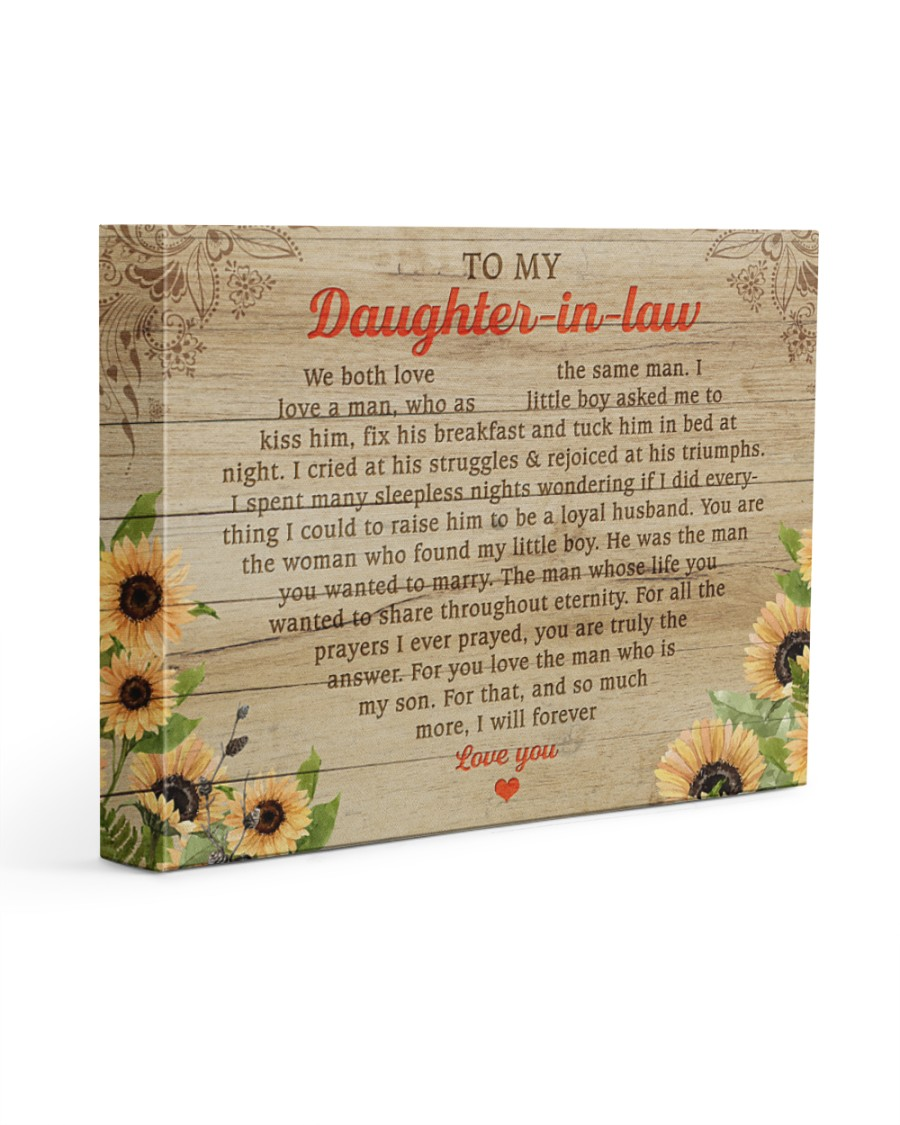 Daughter-In-Law So Much More I'll Forever Love You 14x11 Gallery Wrapped Canvas Prints