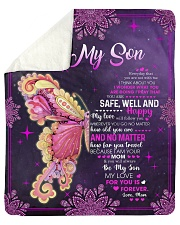 My Love For U Is Forever Mom To Son Sherpa Fleece Blanket tile