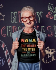 Nana The Woman The Myth The Bad Influence Ladies T-Shirt lifestyle-holiday-crewneck-front-3