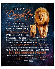 """Lion-I closed my eyes 4 but moment Dad-To-Daugter Fleece Blanket - 50"""" x 60"""" front"""