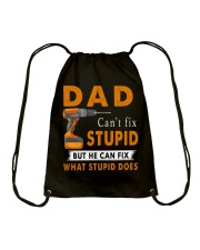 Dad Can Fix What Stupid Does Drawstring Bag thumbnail