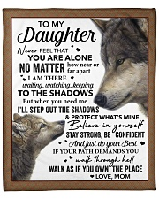 """Never Feel That You Are Alone Mom To Daughter Fleece Blanket - 50"""" x 60"""" front"""