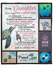 "Turtle-Im So Proud Of You- Mom-To-Daughter Fleece Blanket - 50"" x 60"" front"