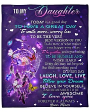 """Today Is A Good Day Mom To Daughter Fleece Blanket - 50"""" x 60"""" front"""