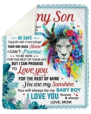 You Are My Sunshine Mom To Son Sherpa Fleece Blanket tile