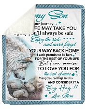 Whenever Your Journey In Life May Take U Mom Son Sherpa Fleece Blanket tile