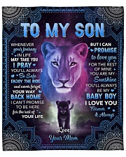 """Whenever Your Journey In Life Lion Mom To Son Fleece Blanket - 50"""" x 60"""" front"""