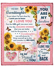 """Even When I'm Not Close By - To Granddaughter Fleece Blanket - 50"""" x 60"""" front"""
