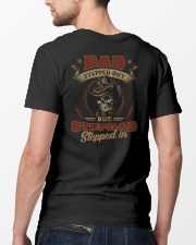 Dad Stepped out but Stepdad stepped in  Classic T-Shirt lifestyle-mens-crewneck-back-5