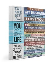 Never Forget That I Love You - Wife To Husband 11x14 Gallery Wrapped Canvas Prints thumbnail