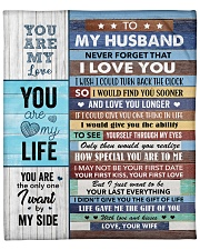 """Never Forget That I Love You - Wife To Husband Fleece Blanket - 50"""" x 60"""" front"""